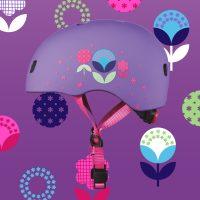 Micro Helmet Floral Purple Static